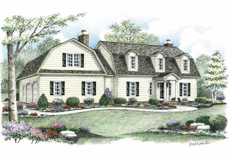 Colonial Exterior - Front Elevation Plan #1002-6 - Houseplans.com
