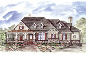 Craftsman Exterior - Front Elevation Plan #54-304