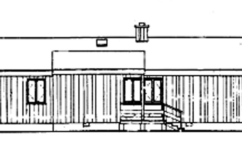 Contemporary Exterior - Rear Elevation Plan #314-269 - Houseplans.com