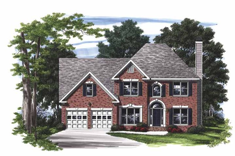 Colonial Exterior - Front Elevation Plan #927-459