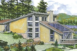 House Design - Contemporary Exterior - Front Elevation Plan #320-1189