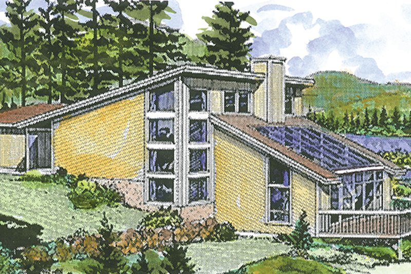 Home Plan - Contemporary Exterior - Front Elevation Plan #320-1189