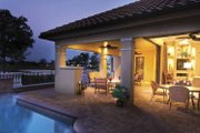 Mediterranean Style House Plan - 4 Beds 3.5 Baths 3271 Sq/Ft Plan #930-58 Exterior - Rear Elevation