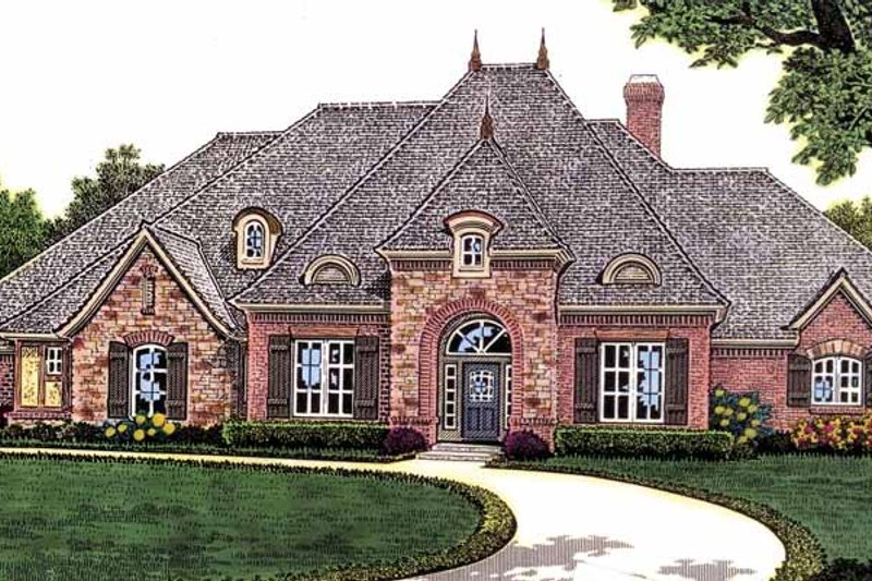 Dream House Plan - Traditional Exterior - Front Elevation Plan #310-1233
