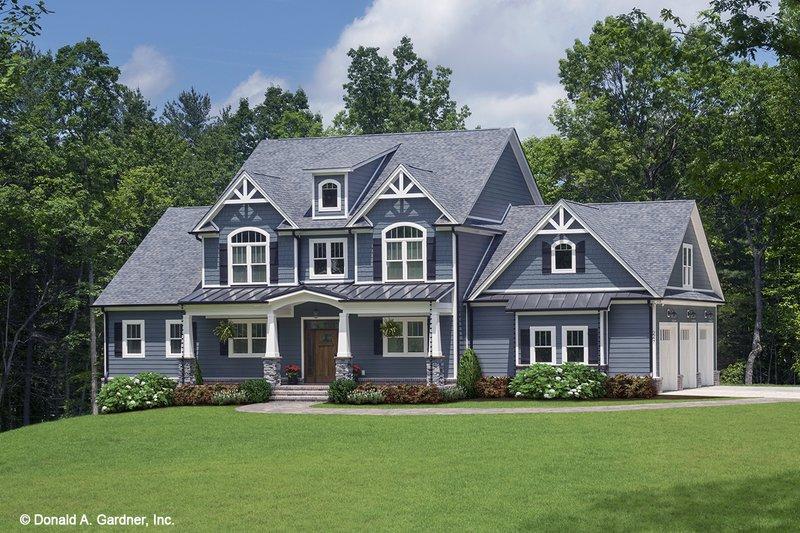 Dream House Plan - Craftsman Exterior - Front Elevation Plan #929-60