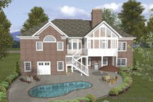 House Plan Design - Traditional Exterior - Rear Elevation Plan #56-683