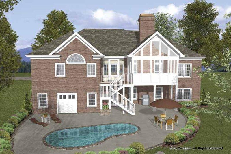 Traditional Exterior - Rear Elevation Plan #56-683 - Houseplans.com