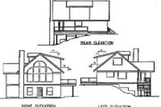 Traditional Style House Plan - 2 Beds 2.5 Baths 1360 Sq/Ft Plan #60-389 Exterior - Rear Elevation