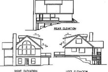 Dream House Plan - Traditional Exterior - Rear Elevation Plan #60-389