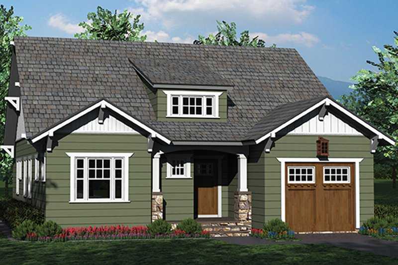 Craftsman Exterior - Front Elevation Plan #453-619