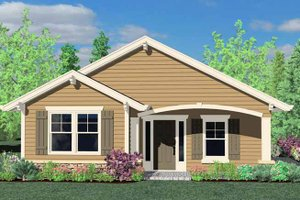 Home Plan - Traditional Exterior - Front Elevation Plan #509-118