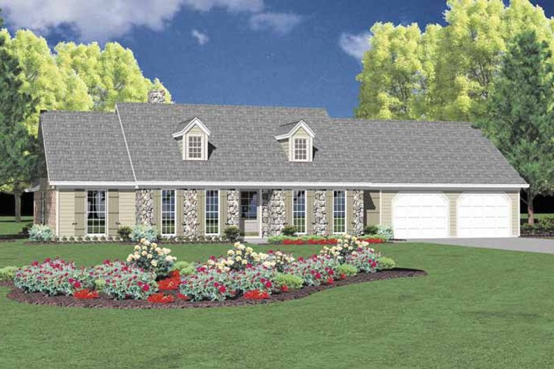 Architectural House Design - Colonial Exterior - Front Elevation Plan #36-562