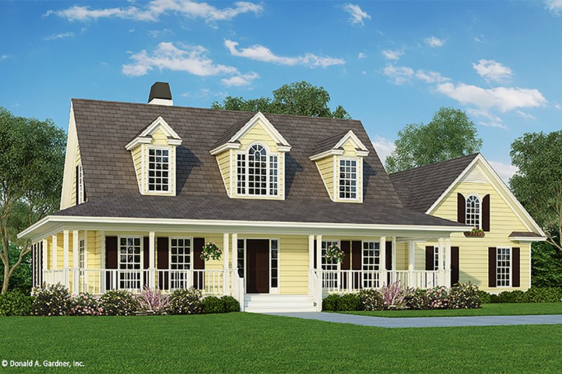 Country Exterior - Front Elevation Plan #929-15