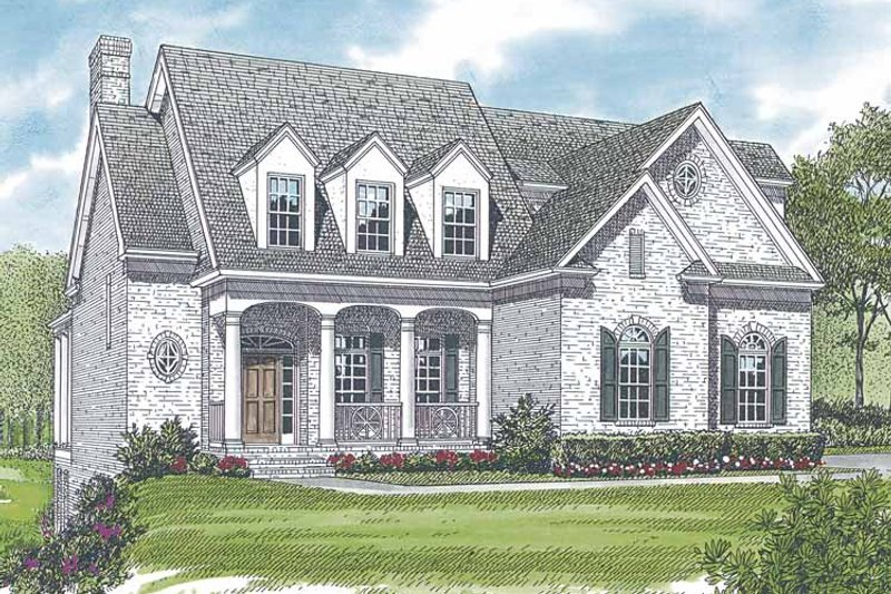 Architectural House Design - Country Exterior - Front Elevation Plan #453-555