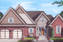 Home Plan - Cottage Exterior - Front Elevation Plan #46-865