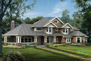 Dream House Plan - Craftsman Exterior - Front Elevation Plan #132-333