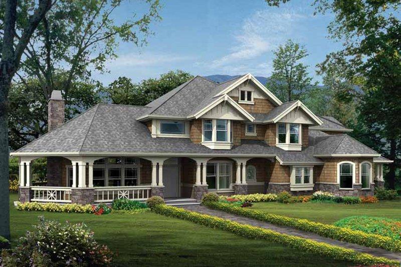 Craftsman Exterior - Front Elevation Plan #132-333