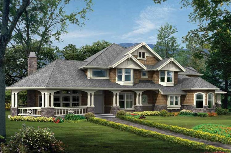 Architectural House Design - Craftsman Exterior - Front Elevation Plan #132-333