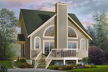 Dream House Plan - Contemporary Exterior - Front Elevation Plan #23-755