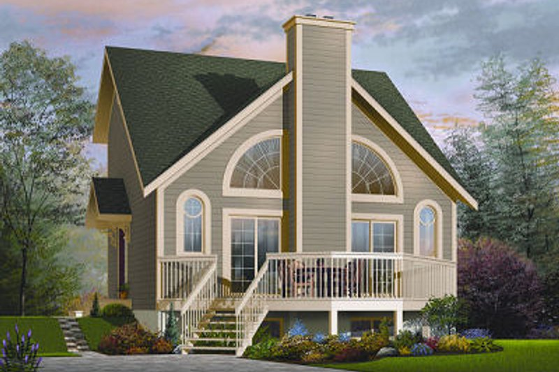 Home Plan - Contemporary Exterior - Front Elevation Plan #23-755