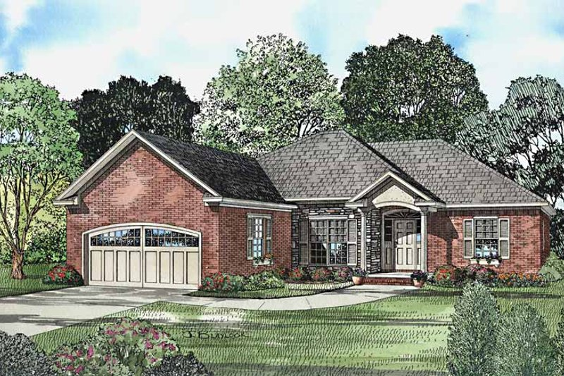 Ranch Exterior - Front Elevation Plan #17-3225 - Houseplans.com