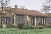 Mediterranean Style House Plan - 3 Beds 2 Baths 1749 Sq/Ft Plan #120-209 Exterior - Rear Elevation