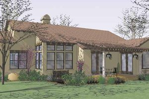 House Plan Design - Mediterranean Exterior - Rear Elevation Plan #120-209
