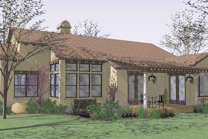Mediterranean Exterior - Rear Elevation Plan #120-209 - Houseplans.com