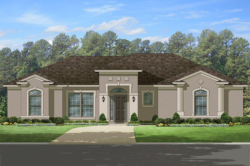 Dream House Plan - Mediterranean Exterior - Front Elevation Plan #1058-113