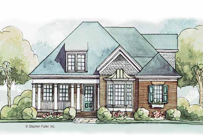 Country Exterior - Front Elevation Plan #429-384