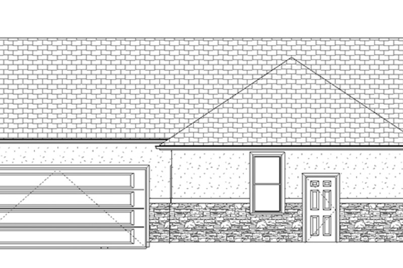 Ranch Exterior - Other Elevation Plan #1060-2 - Houseplans.com