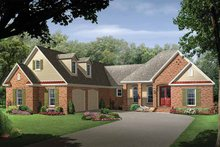 Country Exterior - Front Elevation Plan #21-412