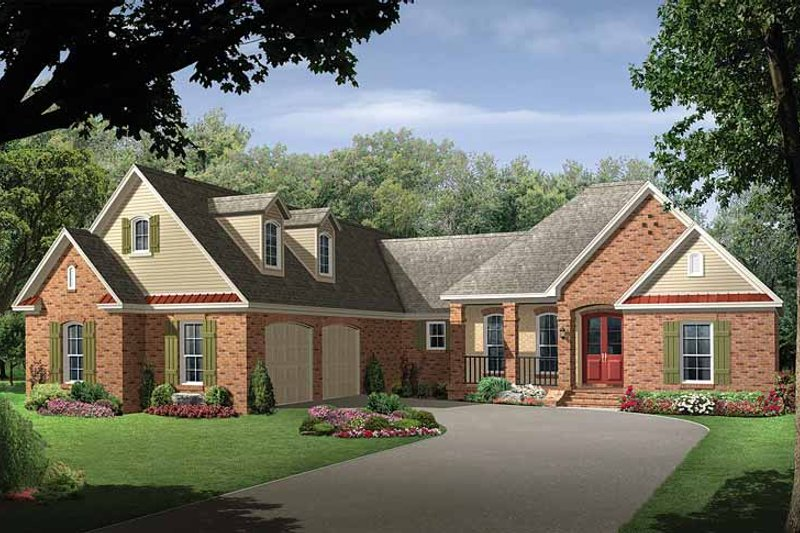 Home Plan - Country Exterior - Front Elevation Plan #21-412