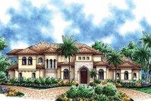Home Plan - Mediterranean Exterior - Front Elevation Plan #1017-39