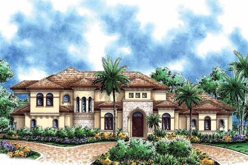 Mediterranean Exterior - Front Elevation Plan #1017-39 - Houseplans.com