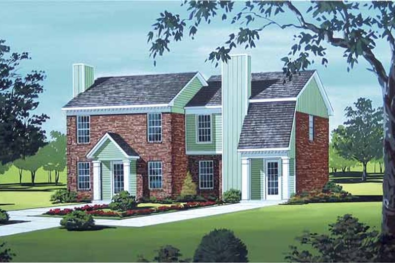 Traditional Exterior - Front Elevation Plan #45-397