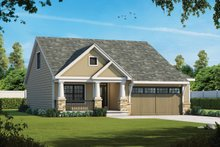 Dream House Plan - Cottage Exterior - Front Elevation Plan #20-2413
