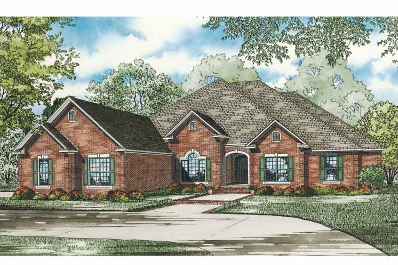Traditional Exterior - Front Elevation Plan #17-3265 - Houseplans.com