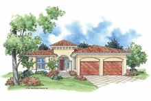 Mediterranean Exterior - Front Elevation Plan #930-387