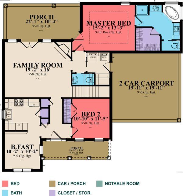 Country Floor Plan - Main Floor Plan #63-279