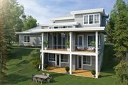 Contemporary Style House Plan - 3 Beds 4.5 Baths 2343 Sq/Ft Plan #942-55 Exterior - Rear Elevation