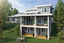 Dream House Plan - Contemporary Exterior - Rear Elevation Plan #942-55