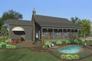 Craftsman Style House Plan - 4 Beds 3 Baths 1898 Sq/Ft Plan #56-710 Exterior - Rear Elevation