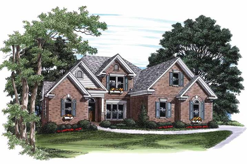 Traditional Exterior - Front Elevation Plan #927-777 - Houseplans.com