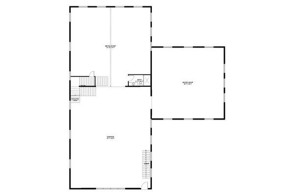 Dream House Plan - Farmhouse Floor Plan - Main Floor Plan #1060-80