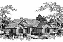 Dream House Plan - Traditional Exterior - Front Elevation Plan #70-393
