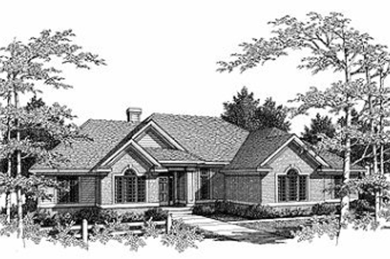 Traditional Style House Plan - 3 Beds 2.5 Baths 2469 Sq/Ft Plan #70-393 Exterior - Front Elevation