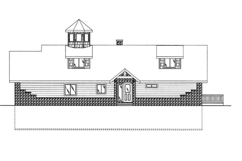 Colonial Exterior - Front Elevation Plan #117-845 - Houseplans.com