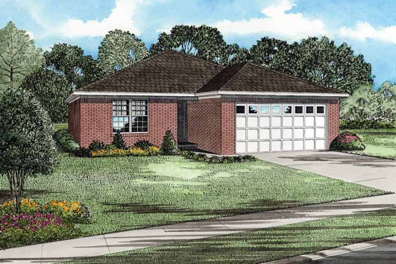 Ranch Exterior - Front Elevation Plan #17-2810
