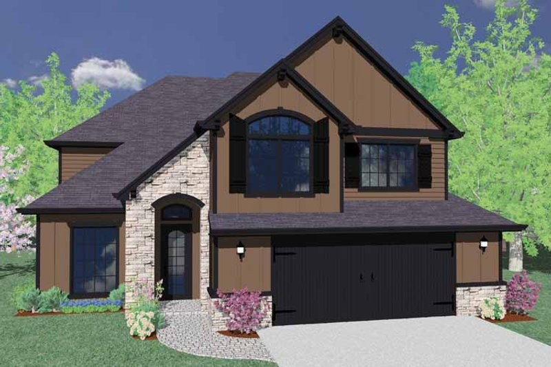 Country Exterior - Front Elevation Plan #509-354